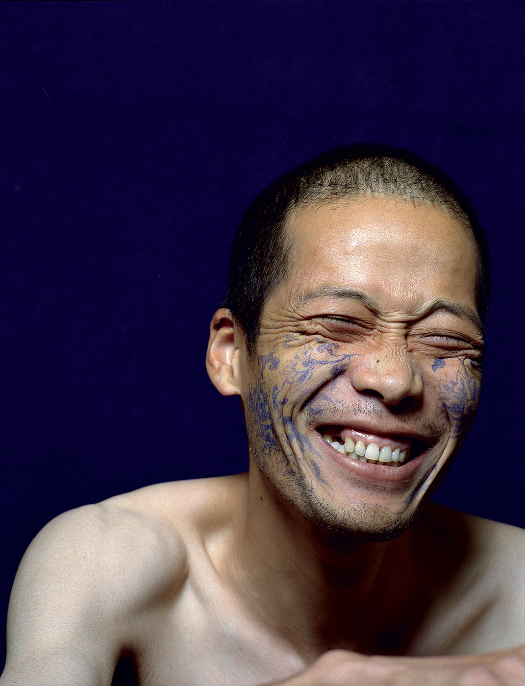 Haifeng Ni - Self-Portrait as Part of the Porcelain Export History 3 - smile, 1999-2001
