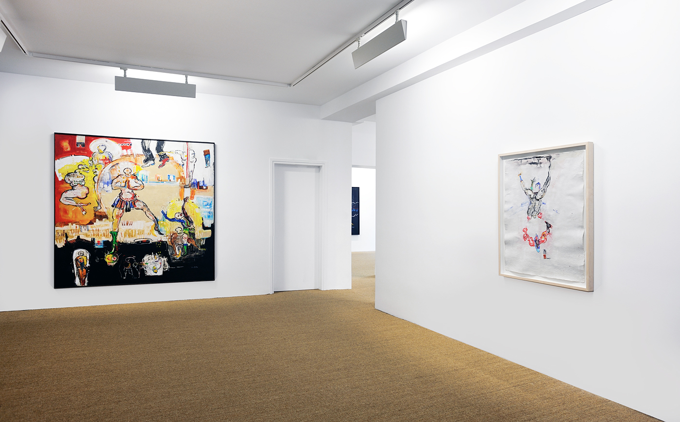 Dominique Zinkpè - Exhibition view - AMINA, 2014
